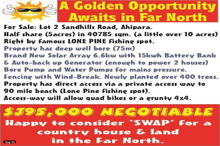 Photo of property in 644B Sandhills Road, Ahipara, Kaitaia, 0481